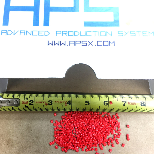 Picture of POLYPROPYLENE (PP) RED PELLETS (2 LBS)